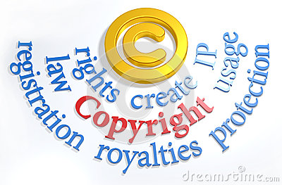 Copyright symbol IP legal words