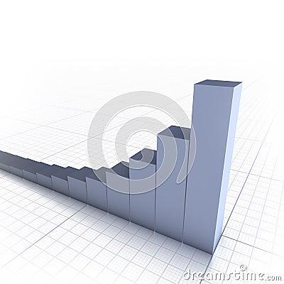 Copyspace prętowy wykres