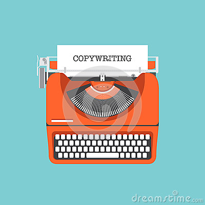Free Copywriting Flat Illustration Concept Royalty Free Stock Images - 39505359