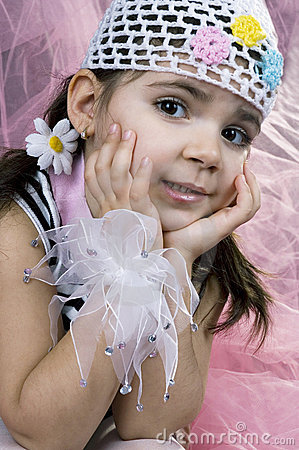 Free Coquette Little Girl Stock Images - 647964