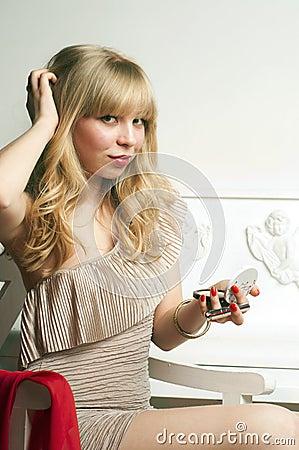 Coquette Pretty blond girl