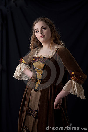 Free Coquette Renaissance Portrait Royalty Free Stock Images - 18401949