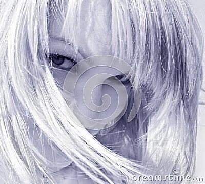 Coquettish blond woman