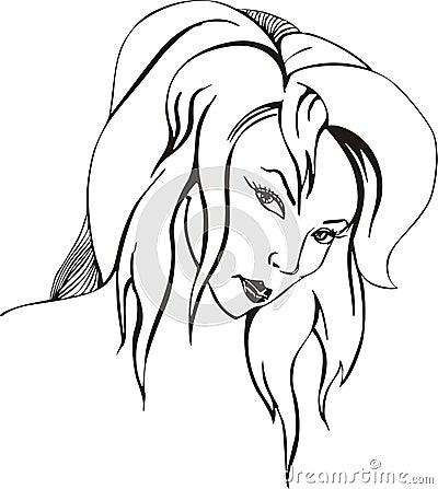 Coquettish woman