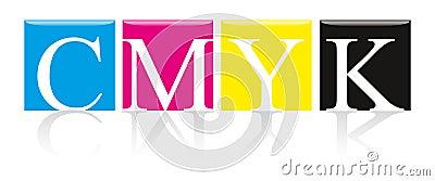 Cor contínua de CMYK