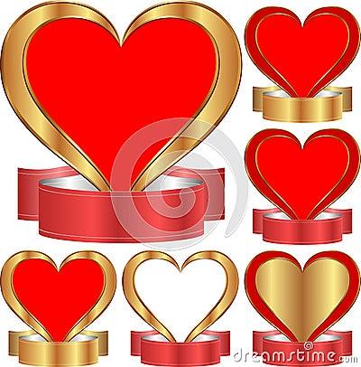 Coração com fita