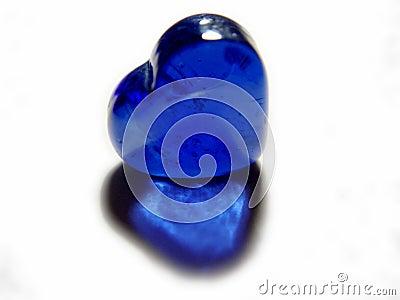 Coração de vidro azul