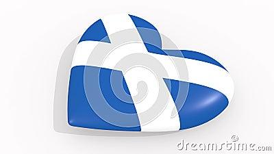 Coração nas cores e nos símbolos de Escócia, laço