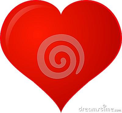 Coração vermelho de Clipart