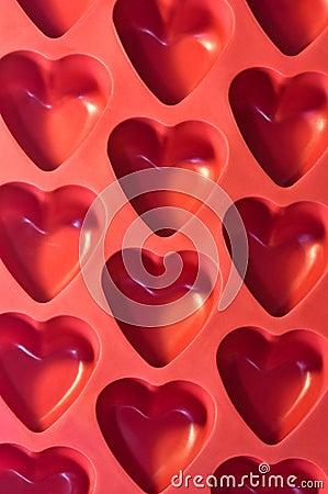 Corações plásticos