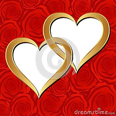 Corações dourados