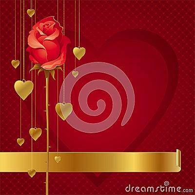 Corações e fundo cor-de-rosa