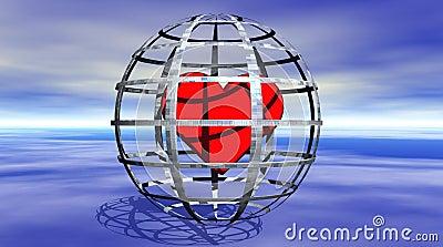 Coração em uma cadeia