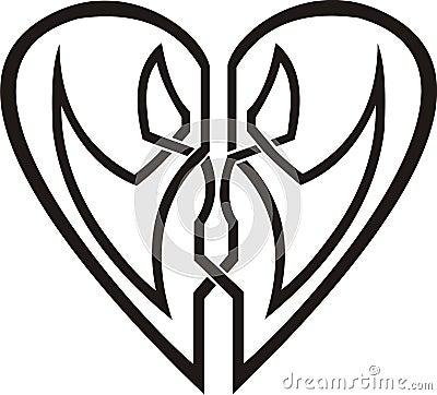 Tribal Heart Tattoo on Home   Royalty Free Stock Image  Celtic Heart   Tribal Tattoo