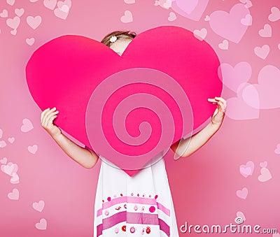 Corazón del papel grande