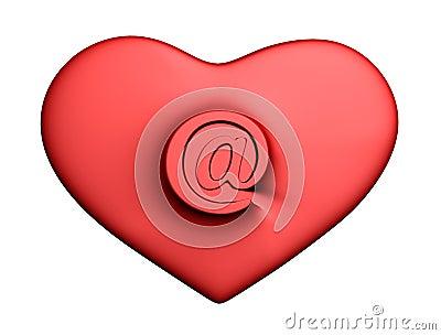 Corazón con el correo