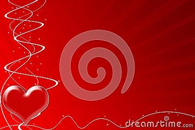 Corazón de la pasión para el día de tarjeta del día de San Valentín