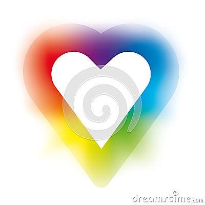 Corazón del arco iris