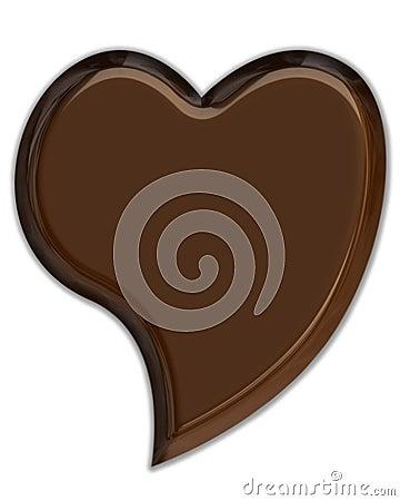 Corazón del chocolate