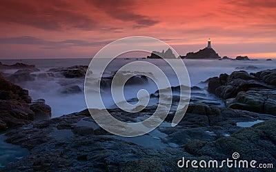 Corbiere Lighthouse in Jersey