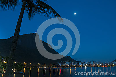 Corcovado and a blue sky.