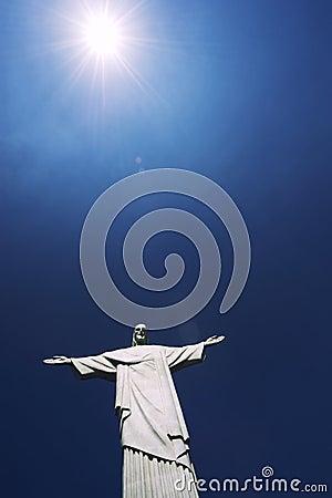Corcovado Christ the Redeemer Rio de Janeiro Brazil Sun