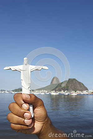 Corcovado Tourist Souvenir Sugarloaf Mountain Rio Brazil