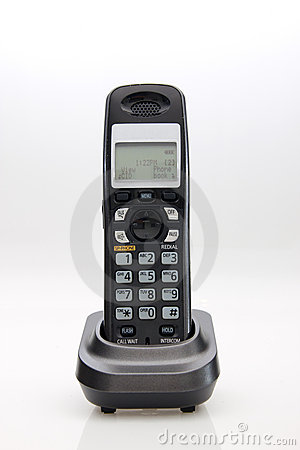 Cordless phone in cradle
