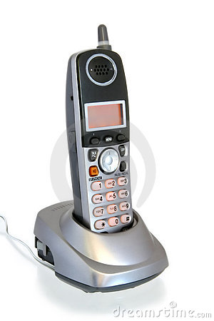 Cordless Telephone in Cradle
