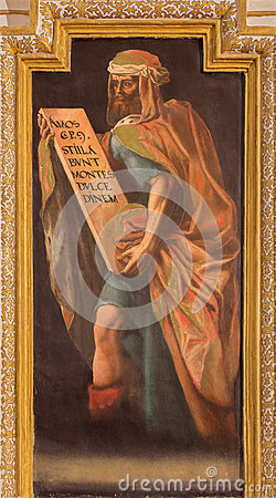 Free Cordoba - Fresco Of Prophet Amos In In Church Iglesia De San Augustin From 17. Cent. By Cristobal Vela And Juan Luis Zambrano Royalty Free Stock Image - 56836606