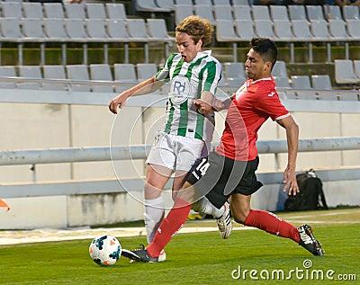 CORDOBA, SPAIN - MARCH 29: Mendigutxia W(35) in action during match league Cordoba (W) vs Murcia (R)(1-1) at the Municipal Stadi