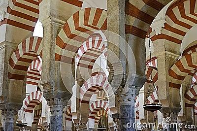 Cordoba wśrodku Mezquita Spain