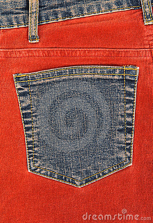Free Corduroy Clothing With Denim Pocket Stock Photos - 5200823