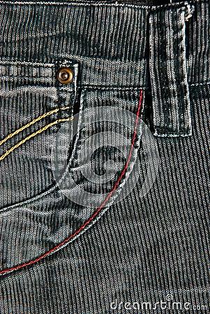 Corduroy pants detail