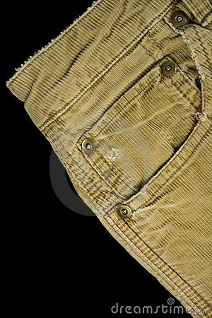 Corduroy pants detail