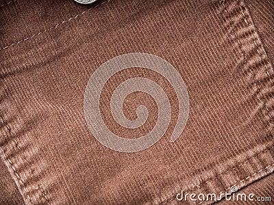 Corduroy pocket