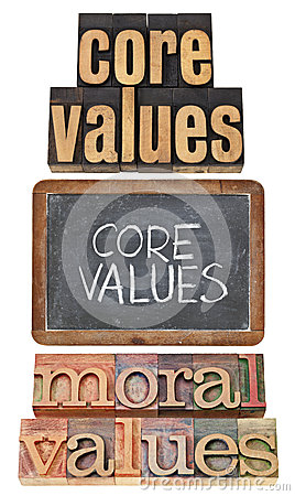 Core and moral values