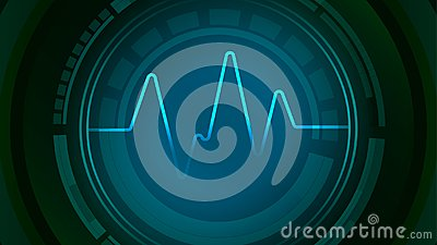 Core of sound wave pulse icon Vector Illustration