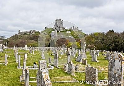 Corfe Castle & Graveyard, Dorset