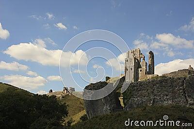 Corfe castle ruin