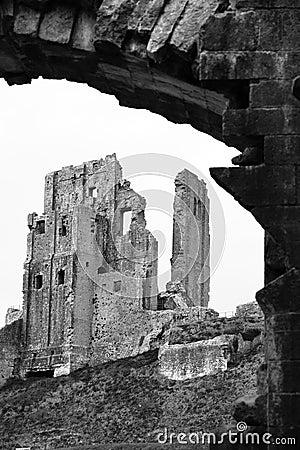 Corfe Castle Ruin Entrance