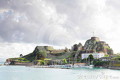 城堡corfo老城镇
