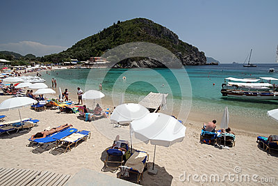 Corfu beach Editorial Photography