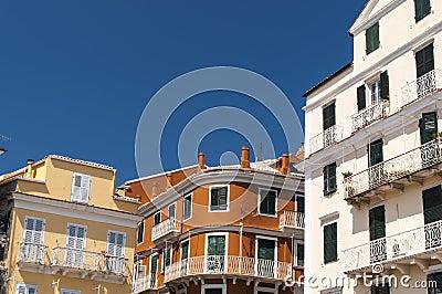 Corfu building facade