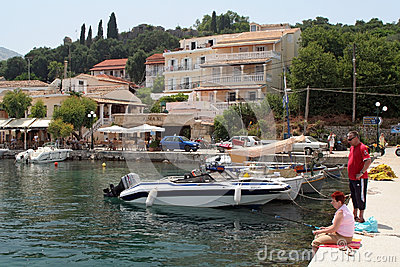 Corfu harbour in Kerkyra Editorial Image