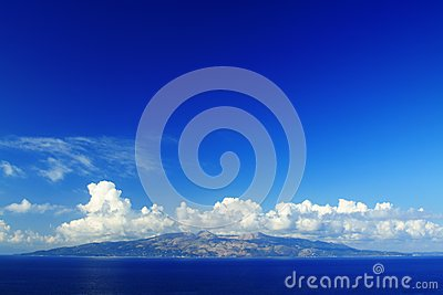 Corfu island seen from Sarande