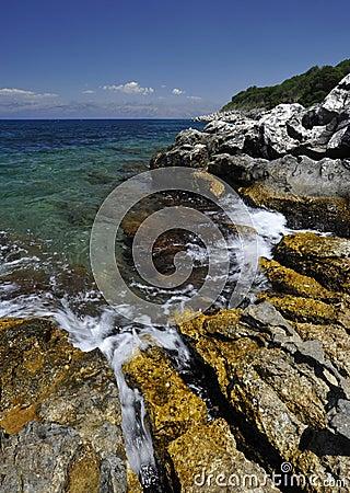Corfu shoreline
