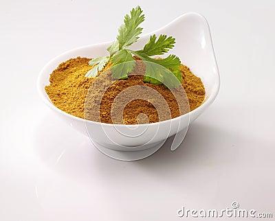 Coriander on Curry
