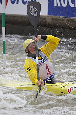 Corinna Kuhnle in water slalom world cup race Editorial Stock Photo