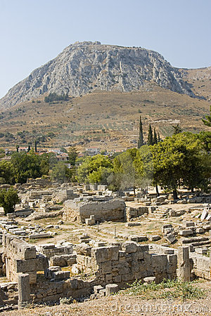 Corinth ancient ruins